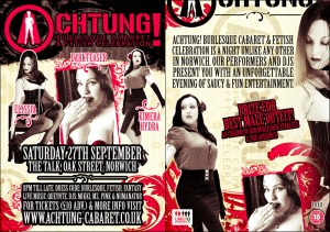 Achtung! 27th September 2008 Flyer